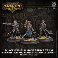 black 13th gun mage strike team cygnar character unit
